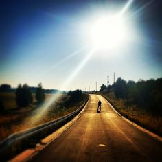 Die Sonne, Weg, Straße, Mann