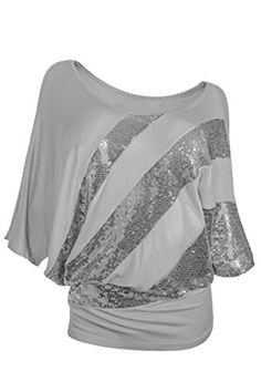 YMING Womens Casual Oversized Gray Sequins Shirts Tops 3XL ** Learn more by visiting the image link.Note:It is affiliate link to Amazon.
