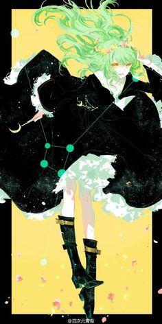 Ilustrator Ini Menggambar 12 Zodiak Sebagai Gadis-Gadis Berseragam Sailor Moss - Cancer