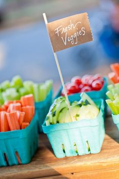 Fresh veggies at a Farm Party