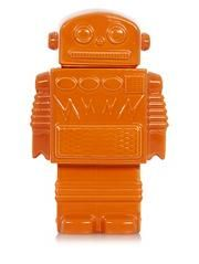 George Home Orange Robot Cookie Jar