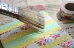 coasters: cheap tiles, washi tape, coat with varnish or modge podge to add water-resistance, put felt on bottom of tile to prevent scratches to furniture.