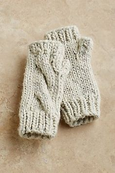 Cozy Knit Fingerless Gloves from Soft Surroundings