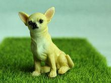1 PCS Bonito Do Cão da Chihuahua Miniaturas De Fadas Jardim Decorações Terrário DIY Resina Artesanato Bonsai Mini Estatueta Jardim Acessórios(China (Mainland))