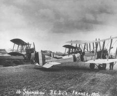 of No 16 Squadron Royal Flying Corps France 1915 Aviation Image, Military Humor, Vintage Airplanes, Ww2 Aircraft, World War Ii, First World, France, Iron Men, Pilots