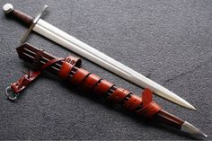 An arming sword only weighs a few pounds, can sit on your belt until you need it, and is an effective personal defence weapon. Cool Knives, Knives And Swords, Arming Sword, Battle Mage, Chalkboard Drawings, Sword Design, European History, American History, Samurai Swords