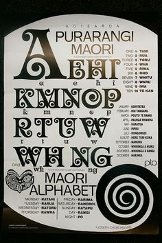 Purarangi: Maori Alphabet: Designer by Joseph Churchwood Tattos Maori, Samoan Tattoo, Thai Tattoo, Tribal Tattoos, New Zealand Symbols, Waitangi Day, Maori Words, Maori Patterns, Zealand Tattoo
