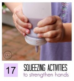 17 squeezing activities to strengthen hands