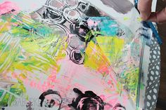 alisaburke: plastic bag printmaking. Great ideas for monotype printmaking