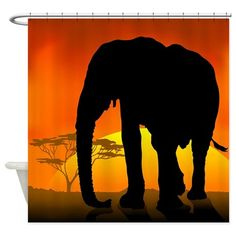 African Elephant Shower Curtain on CafePress.com