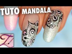 Tuto nail art mandala pastel chic en peinture en one stroke