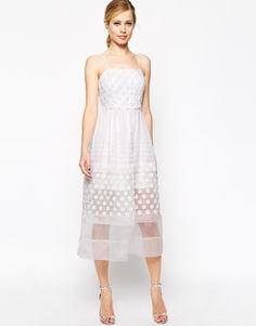 ASOS Debutante Dress With Daisy Embroidery