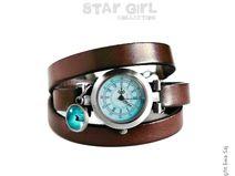 Star Girl Kiwi zw - bransoletka zegarek - brązowa
