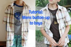 Free Sewing Patterns for Boys and Girls!: Tutorial: Mens button-up shirt to boys
