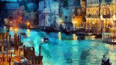 Wallpaper: http://desktoppapers.co/aq32-art-classic-painting-water-lake-night-blue/ via http://DesktopPapers.co : aq32-art-classic-painting-water-lake-night-blue