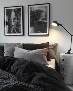 gray bedroom walls, gray bedroom design ideas you want … – cozy home warm Black And Grey Bedroom, Grey Bedroom Design, Grey Bedroom With Pop Of Color, Bedroom Colors, Home Decor Bedroom, Bedroom Furniture, Bedroom Designs, Wood Furniture, Furniture Stores
