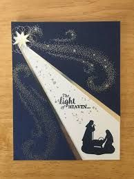 Stampin Up handmade Christmas card – The light of heaven – Christmas DIY Holiday Cards Christmas Cards 2017, Religious Christmas Cards, Homemade Christmas Cards, Stampin Up Christmas, Xmas Cards, Homemade Cards, Holiday Cards, Christmas Images For Cards, Christmas Nativity