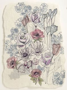 Beautiful textile art from Rosemary Rose