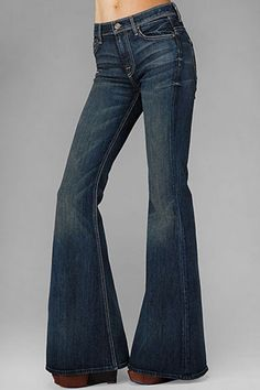 HASH blue jeans were bell bottom and had a double-star design and the letters HASH stiched in gold thread on the back right pocket.