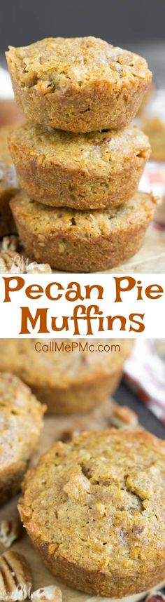 recipe. pecans. PECAN PIE MUFFINS have that amazing pecan pie flavor, but in a chewy little muffin. They're great for breakfast, snacking, and even dessert!!