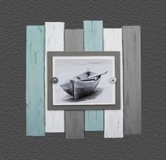 Multi Color Beach Industrial Distressed Frame by ProjectCottage on Etsy Pallet Frames, Pallet Art, Distressed Frames, Beach Crafts, Beach House Decor, Beach Art, Beach Themes, Coastal Decor, Barn Wood