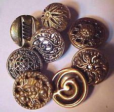 49 Wonderful Old Metal Twinkle Buttons Vintage Mirrorbacks
