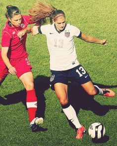 Soccer - Alex Morgan doing work.