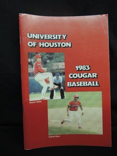1983 NCAA University of Huston Cougar College Baseball Media Yearbook Guide