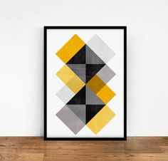 Items similar to Geo Abstract Geometric Art, Geometric Poster, Abstract Wall Art, Celtic Quilt, Triangle Art, Creation Deco, Mid Century Art, Diy Wall Art, Wall Decor