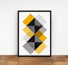 Impresión Geométrica, Lámina abstracta, Cuadro geometrico, Impresión Digital, Poster abstracto, Decoración geométrica, Poster Descargable