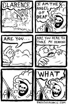 Funny pictures about Angel of deaf. Oh, and cool pics about Angel of deaf. Also, Angel of deaf. Archie Comics, Funny Comics, Rage Comics, Funny Cartoons, Best Funny Pictures, Funny Images, You Meme, Fandoms, All I Ever Wanted