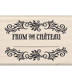 Inkadinkado Mounted Rubber Stamp-From The Chateau