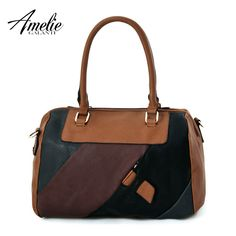 New fashion women totes patchwork color package portable bag