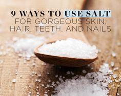 9 Ways to Use Salt for Gorgeous Skin, Hair, Teeth, and Nails  https://www.womenshealthmag.com/beauty/salt-beauty-uses