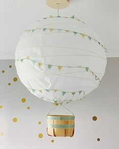 Hottest Pics IKEA REGOLIT Hack - the simple ceiling lamp can be so beautiful Popular An Ikea kids' space continues to intrigue the children, because they are offered a whole lot Ikea Kids, Ikea Children, Lampe Ballon, Diy Ballon, New Swedish Design, Home Organization Hacks, Baby Room Decor, Hot Air Balloon, Lampshades