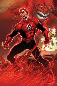 Hal Jordan Red Lantern he looks bad ass to bad its when he's evil