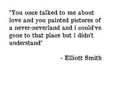 elliott smith lyrics - I didn't understand