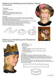 Biblisches Basteln  Krone Turban Turban, Kindergarten, Crown, Image, Fashion, Tutorials, Creative, Moda, Turbans