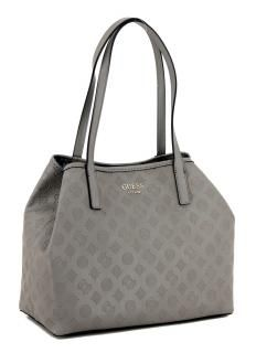 d83cc354439fa Guess Henkeltasche Vikky Tote Taupe geprägt grau Innentasche - Bags   more
