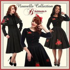 Nouvelle Collection Automne/Hiver 2017  https://www.belldandy.fr/catalogsearch/advanced/result/?marque=455  Manteau Rétro Pin-Up 50s Rockabilly Glamour Claudia Cape  https://www.belldandy.fr/manteau-retro-pin-up-50-s-rockabilly-glamour-claudia-cape.html  Jupe Pin-Up Rockabilly Rétro 50s Swing Talis Roses  https://www.belldandy.fr/jupe-pin-up-rockabilly-retro-50-s-swing-talis-roses.html  Cardigan Gilet Pin-Up Rétro Rockabilly Glamour Jessie Roses…