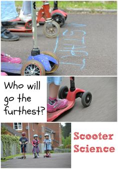 Fun scooter investigation...which travels fastest and furthest #Science