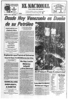 Nacionalización del petróleo. Publicado el 29 de agosto de 1975.