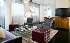 Symth Suite's private living and dining area at the Smyth TriBeCa in New York City