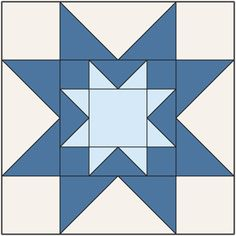 Double Sawtooth Star Block: FREE Patchwork Quilt Block Pattern