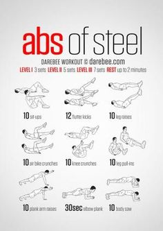 20 Stomach Fat Burning Ab Workouts From NeilaRey.com! by ivy