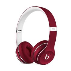 Beats by Dr. Dre Solo2 On-Ear Headphones (Luxe Edition) Red (31.880 CRC) ❤ liked on Polyvore featuring beats by dr dre headphones, red headphones, apple iphone headphones, iphone headphones and ipod headphones