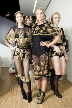 452 backstage photos of Dolce & Gabbana at Milan Fashion Week Fall 2012.