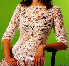 crochet blusa filet with pattern