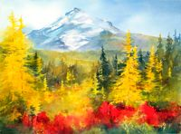 """""""And All Nature Sings"""" - Painting by Beth Verheyden"""