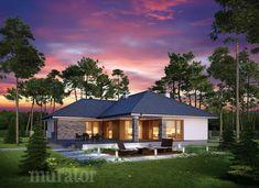 projekt domu M176b Nowe możliwości - wariant II - Murator projekty Home Fashion, Gazebo, Outdoor Structures, Cabin, Mansions, House Styles, Home Decor, Kiosk, Decoration Home